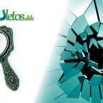 Los espejos rotos y la mala suerte