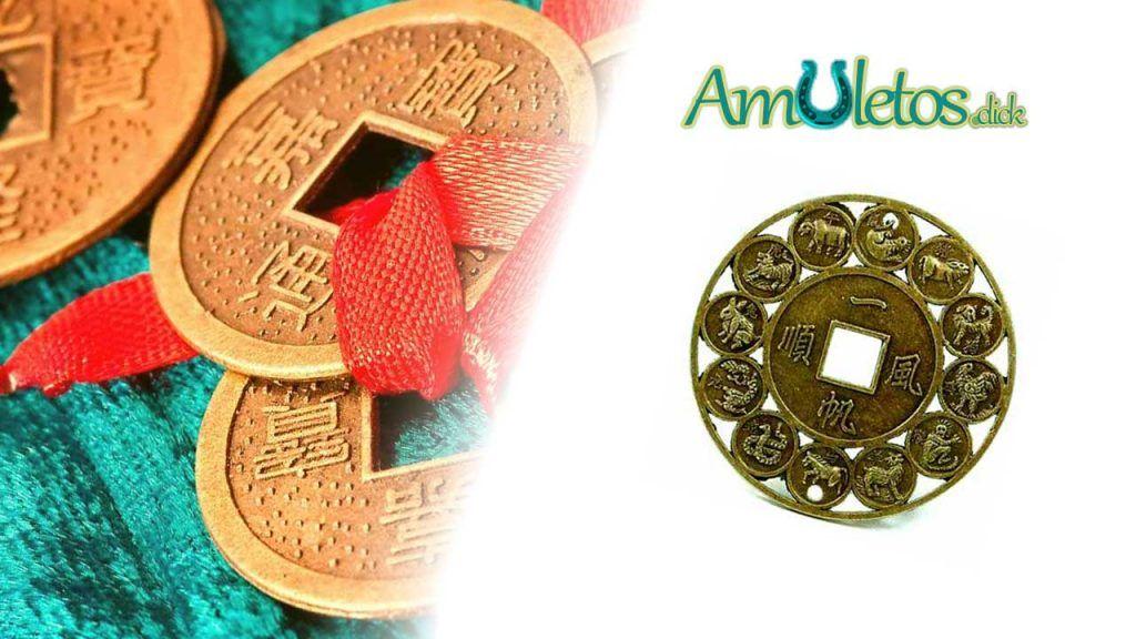 Monedas chinas de la suerte